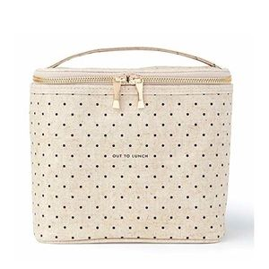 Kate spade lunch tote with polka dots